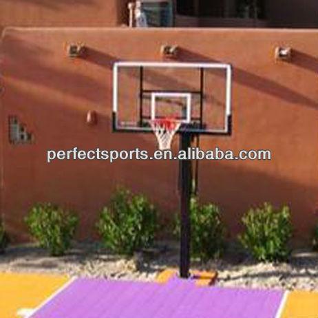 "In Ground Basketball Hoop 54"" Tempered Glass Backboard"