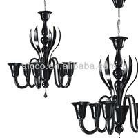 Hot Sell Modern Black Muranoo Glass Chandelier Lighting