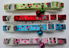 Tape Printing Nylon Adjustable Cat Collar w/heart safety buckle