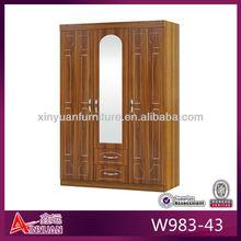 Madera armarios muebles de dormitorio moderno color doble diseño de vestuario muebles de dormitorio
