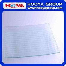 29.5*29.5CM Silver Transparent Glass Plate
