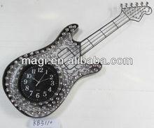 Special Design Guitar Shape Ornament Clocks