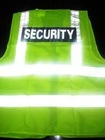 Safety Vest with Security Reflector Badge
