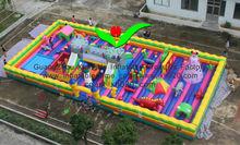 2013 Hot sale commercial grade PVC Tarpaulin brand new FU-060 big inflatable fun city