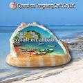 chinês artesanato resina shell com cenário turístico