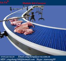 modular belt conveyor for food industries