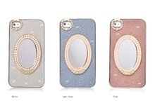 New 3D Mirror Diamond Shining Bling Cover Case for iPhone 4 4S 5