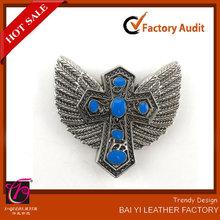 women alloy belt accessory cross with wings concho