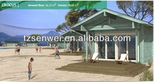 beach small prefab wooden house ,timber house ,frame house ,cottage