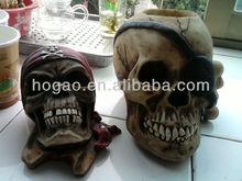 handmade skull head ,resin skull