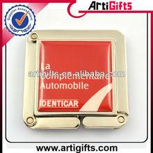 Custom logo metal square purse hanger