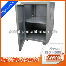 OEM sheet metal job shop for custom bespoke mobile stainless steel school files storage cabinet with two sections and locker
