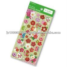 Petit Poche Sticker Plum _ spring flowers _ sticker printing _ stationery item _ handmade _ japanese sticker
