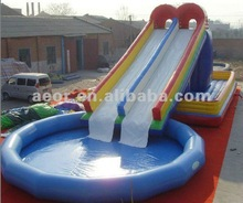 2013 New inflatable water slide for kids/inflatable long slide for adults