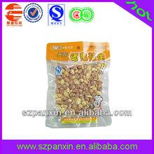 vacuum salted peanut in food bag