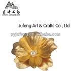 24k gold foil flower brooch promotion gift hot selling in valentine's day