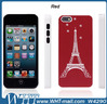 For iPhone 5C Eiffel Tower with Crystal Back Cover Hard Case
