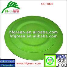 cheap round bamboo fiber dinner plate