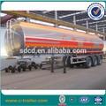 2015 45000 litros de gasolina de aluminio semi remolque cisterna, camiones de aluminio tanques de combustible