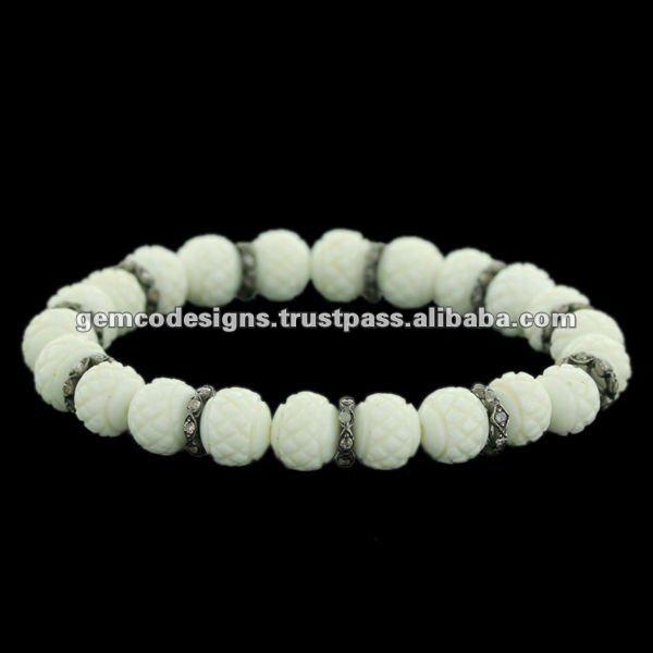 Gemstone Shamballa Bracelet Gemstone Beads Bracelet