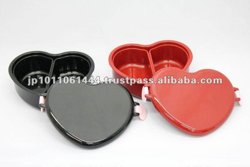 Heart shaped plastic lunch box Japanese BENTO box
