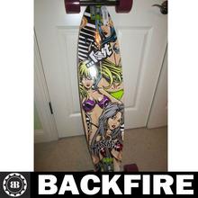 "Backfire Brand New LOST BEACH BABES Cruiser Longboard Skateboard 42"" BONUS DJ HEADPHONES Professional Leading Manufacturer"