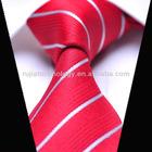 Red Stripe Weave Polyester Necktie