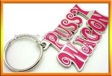 Custom PUSSY WAGON metal keychains/souvenir metal keychains