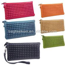 Fashion Women's Girls Rivet Soft Leather Purse Handbag