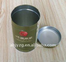 Rond en forme de thé de stockage boîte en fer métallique emballage