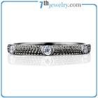 Black Gold Plated Charm Finger Ring Half Bezel Set CZ Diamond Brass Rings