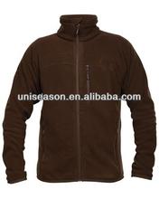 Brown hunting fleece jacket men