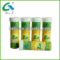 Zinc Gluconate Effervescent Tablets oem made in china