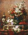 famoso artista lavoro ancora vita di fiori e urna lampone dipinti ad olio