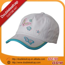 wholesale New cute flat embroidery cotton children cap kid's cap