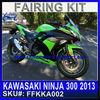 Motorcycle body Kits For KAWASAKI NINJA 300 2013 motorcycle fairings kits