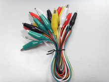 Multi-colour alligator clips with wire
