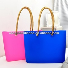 Hot sale silicone shoulder bag /beach handbags with different models