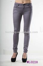 elastic waist feminine of cowboy turkey fabric legging jean trousers