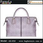 2013 Genuine leather fashion handbag& Python leather tote handbag(AX-050)