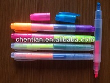 Fatory direct-selling New design Non-toxic high quality double highlighter pen