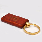 Personal logo avaliable wooden key chain