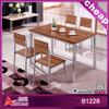 Modern design French retangular wood round dining table