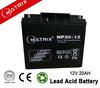 China battery supplier 12V storage battery 20ah