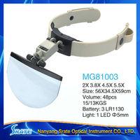 MG81003 Head Visor Magnifier with LED Light