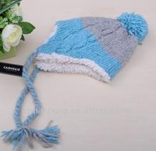 newly knitted winter fashion fleece tassel hat