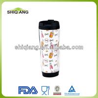 12oz 350ml DIY starbuck shape coffee travel mug tumblers with paper insert advertising travel mugs