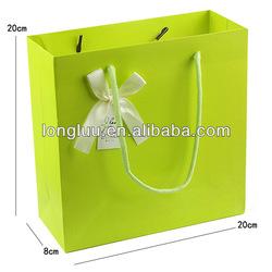 Apple green gift bag paper advertising promotional bag