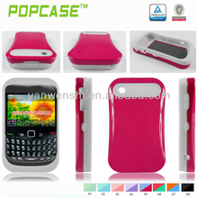 Glow combo case for blackberry curve 8520 back cover