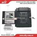 Shenzhen precio muy competitivo 4 ch dvr móvil con 3g gps para el vehículo de seguridad, vr8800-3gw